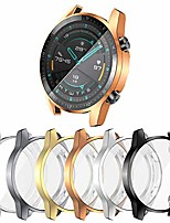 cheap -[6-pack] screen protector case compatible with huawei watch gt 2 46mm cover, all around soft tpu plated protective frame anti-scratch bumper shell accessories (6 colors, gt 2 46mm)