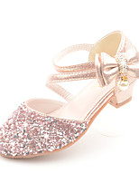cheap -Girls' Heels Princess Shoes Synthetics Little Kids(4-7ys) Big Kids(7years +) Daily Walking Shoes Bowknot Sequin Pink Gold Silver Spring Fall
