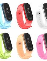 cheap -pinhen xiaomi mi band 3 strap bracelet replacement, miband 3 waterproof soft silicone wristband bracelet accessories for xiaomi mi band 3 (6pcs set)