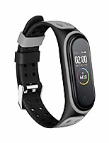 cheap -silicone watch strap for xiaomi mi band 5 smart bracelet, replacement wrist strap watch band adjustable wrist strap for mi band 5 (includes strap only)