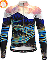cheap -21Grams Men's Long Sleeve Cycling Jacket Winter Fleece Polyester Dark Navy 3D Bike Jacket Top Mountain Bike MTB Road Bike Cycling Thermal Warm Fleece Lining Breathable Sports Clothing Apparel