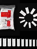 cheap -9# 500PCS French Square White Nail French Pointed Nail Seamless Nail Ballet Nail Transparent Nail Toe Nail