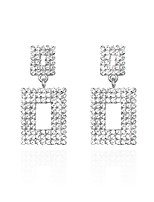 cheap -Men's Drop Earrings Earrings Classic Simple Luxury Fashion Imitation Diamond Earrings Jewelry Silver For Wedding Party Evening Prom Date Birthday 1 Pair