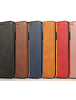 cheap -Case For Apple iPhone 11 / iPhone XR / iPhone 11 Pro Shockproof Full Body Cases Solid Colored PU Leather / TPU