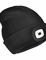 cheap -led beanie hat with light,usb rechargeable lighted beanie cap