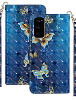 cheap -Case For Motorola MOTO One Vision / MOTO one action / Moto G8 Plus Shockproof Full Body Cases Butterfly / Animal PU Leather / TPU