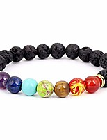 cheap -black lava rock 8mm beads 7 chakra healing balance bracelet for men women reiki prayer stone yoga chakra bracelet