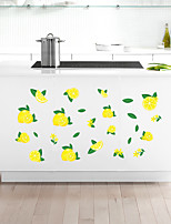 cheap -Fresh Green Lemon Home Background Kitchen Cabinet Background Decoration Can Remove Stickers