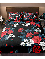 cheap -Flower Print 3-Piece Duvet Cover Set Hotel Bedding Sets Comforter Cover with Soft Lightweight Microfiber For Holiday Decoration(Include 1 Duvet Cover and 1or 2 Pillowcases)