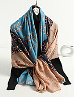 cheap -Sleeveless Shawls / Scarves Linen / Cotton Blend Party / Evening / Office / Career Women's Scarves With Leopard / Stripe