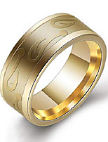 cheap -8mm stainless steel fish hook ring fishing wedding band (gold, 7)