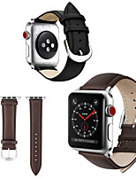 cheap -Watch Band for Apple Watch Series 6 / SE / 5/4 44mm / Apple Watch Series 6 / SE / 5/4 40mm / Apple Watch Series 3/2/1 38mm Apple Leather Loop Genuine Leather Wrist Strap