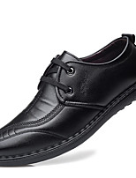 cheap -Men's Oxfords Casual Daily PU Wear Proof Black Fall