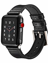 cheap -genuine leather watch bands for apple watch series 5 40mm 38mm for women black bands compatible with new apple watch 5 4 3 2 1 - black