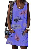 cheap -women's summer sleeveless dress casual button mini dress with pockets