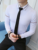 cheap -Tuxedos Standard Fit Mandarin Single Breasted More-button Polyester Stripes / Solid Colored