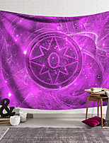 cheap -Wall Tapestry Art Decor Blanket Curtain Hanging Home Bedroom Living Room Decoration Polyester Fiber Painted Purple Magic Array Style
