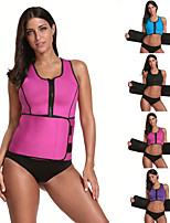 cheap -Body Shaper Sweat Waist Trimmer Sweat Waist Trainer Corset Sports Spandex Yoga Gym Workout Pilates Zipper Durable Weight Loss Tummy Fat Burner Hot Sweat For Women