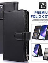 cheap -Case For Samsung Galaxy Galaxy A30(2019) / Galaxy A50(2019) / Samsung Galaxy A20(2019) Wallet / Card Holder / Shockproof Full Body Cases Solid Colored TPU