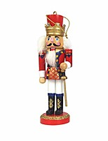 cheap -1pc wooden nutcracker doll soldier miniature figurines vintage handcraft puppet new year christmas ornaments home decor