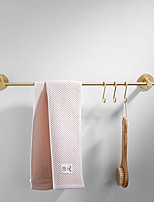 cheap -Brass Towel Bar Solid Copper Rod with 5 - hook Solid Brass Hook Towel Bar Wall Mounted