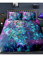 cheap -Starry Sky Dreamcatcher 3-Piece Duvet Cover Set Hotel Bedding Sets Comforter Cover with Soft Lightweight Microfiber For Room Decoration(Include 1 Duvet Cover and 1or 2 Pillowcases)