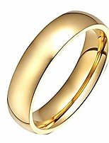 cheap -men women stainless steel smooth rings 4mm width,gold,high palted