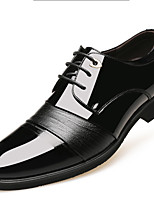 cheap -Men's Oxfords Business Casual Daily Office & Career Walking Shoes PU Breathable Wear Proof Black Brown Spring Fall