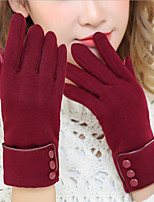 cheap -Winter Bike Gloves / Cycling Gloves Touch Gloves Windproof Warm Full Finger Gloves Sports Gloves Fleece Black Burgundy Grey for Adults' Activity & Sports Gloves