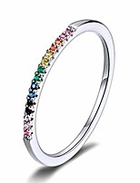 cheap -color cz finger rings genuine 925 sterling silver stackable ring gift for women