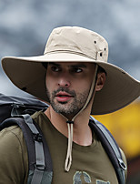 cheap -Men's Hiking Cap 1 PCS Outdoor Windproof Breathable Quick Dry Ultraviolet Resistant Hat Solid Color POLY Black Army Green Grey for Fishing Climbing Beach