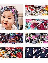 cheap -6 pack baby girl headband knotted toddler headbands turban headwraps for newborn infant child, (multicolor 04)