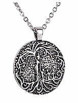 cheap -womens pendant necklace necklace mom several children necklace family tree of life necklace disc pendant mom kid women mothers day necklace women 9066-silver-3 kids