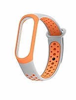 cheap -for mi band 3 4 5 strap sport silicone watch wrist bracelet strap accessories bracelet smart for xiaomi mi band 3 4 strap (color : gray orange, size : for mi band 3)