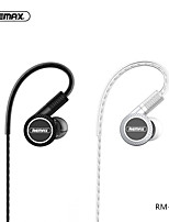 cheap -Rm-590 Three Moving Coil Music Earphones Translucent Design With Sound Control Wired Earphones