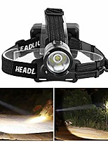 cheap -super bright head lights headlamp comfortable headband rechargeable outdoors for camping(black)