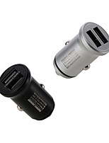 cheap -REMAX Alloy 3 Car 2USB Charger 4.8A Fast Charge Car Charger Metal Mini Car Charger Gift OEM