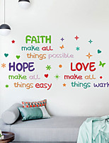 cheap -FAITH Cartoon Color English Alphabet Children Room Home Personality Tv Background Wall Can Remove The Stickers