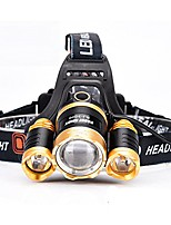 cheap -zoomable waterproof headlight rechargeable headlamp head torch flashlight for travel riding fishing hunting (zoom 30w white light)