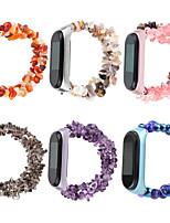 cheap -Watch Band for Mi Band 3 / Xiaomi Mi Band 4 / Xiaomi Band 5 Xiaomi Jewelry Design Elastic Beaded Wrist Strap