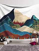 cheap -Wall Tapestry Art Decor Blanket Curtain Hanging Home Bedroom Living Room Decoration Polyester Forest Mountains Oil Painting Pattern
