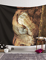 cheap -Wall Tapestry Art Deco Blanket Curtain Hanging Home Bedroom Living Room Dormitory Decoration Polyester Fiber Animal Lion