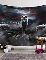 cheap -Wall Tapestry Art Decor Blanket Curtain Hanging Home Bedroom Living Room Decoration Polyester Fiber Animal Painted Wolves Wuyun Lanting Design