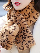 cheap -Sleeveless Scarves Faux Fur Party / Evening / Office / Career Women's Scarves With Leopard Print