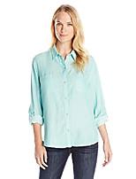 cheap -women's blakely 3/4 sleeve woven shirt, deep lavender, small