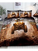 cheap -Sports Series extreme Wheels Print 3-Piece Duvet Cover Set Hotel Bedding Sets Comforter Cover with Soft Lightweight Microfiber(Include 1 Duvet Cover and 1or 2 Pillowcases)