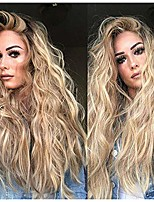 cheap -naiflowers long gold wig for women, sexy wavy curly synthetic wigs 24 inches natural party cosplay non-lace wigs, heat resistant high temperature fiber wig hai synthetic natural full wigs (gold)