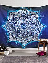 cheap -Mandala Bohemian Wall Tapestry Art Decor Blanket Curtain Hanging Home Bedroom Living Room Decoration Boho Hippie Polyester Fiber Color Blue White Lotus Flower Pattern Mandala Pavilion Design Style