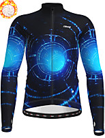 cheap -21Grams Men's Long Sleeve Cycling Jacket Winter Fleece Polyester Black Bike Jacket Top Mountain Bike MTB Road Bike Cycling Thermal Warm Fleece Lining Breathable Sports Clothing Apparel / Stretchy