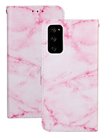 cheap -Case For Samsung Galaxy S20 Plus / S20 Ultra / S20 Shockproof Full Body Cases Marble PU Leather / TPU
